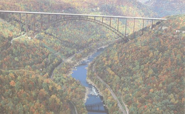 Arial view of New River Gorge